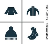 clothes icons set. collection... | Shutterstock .eps vector #631042451