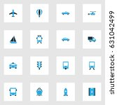 transportation colorful icons... | Shutterstock .eps vector #631042499