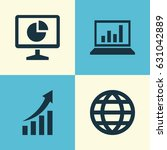job icons set. collection of... | Shutterstock .eps vector #631042889