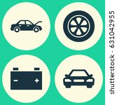 auto icons set. collection of... | Shutterstock .eps vector #631042955