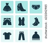 dress icons set. collection of... | Shutterstock .eps vector #631042985