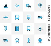 transport colorful icons set.... | Shutterstock .eps vector #631043069