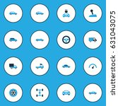 car colorful icons set.... | Shutterstock .eps vector #631043075