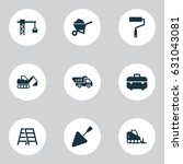 architecture icons set.... | Shutterstock .eps vector #631043081