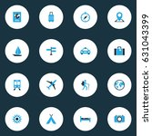 exploration colorful icons set. ... | Shutterstock .eps vector #631043399