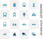 transport colorful icons set.... | Shutterstock .eps vector #631043405