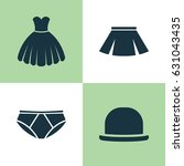 dress icons set. collection of... | Shutterstock .eps vector #631043435