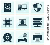 laptop icons set. collection of ... | Shutterstock .eps vector #631043441