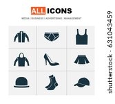 dress icons set. collection of... | Shutterstock .eps vector #631043459