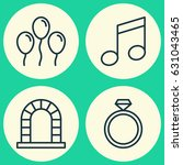 new year icons set. collection... | Shutterstock .eps vector #631043465