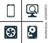 computer hardware icons set.... | Shutterstock .eps vector #631043471