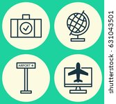 travel icons set. collection of ... | Shutterstock .eps vector #631043501