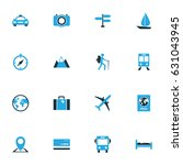 exploration colorful icons set. ... | Shutterstock .eps vector #631043945