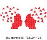 Stock vector puzzle head couple vector 63104428