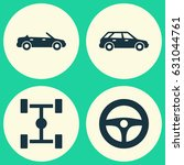 automobile icons set.... | Shutterstock .eps vector #631044761