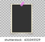 vintage photo frame with... | Shutterstock .eps vector #631045529