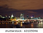 night view of london  river... | Shutterstock . vector #63105046