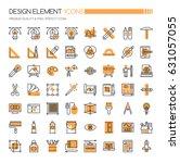 design element icons   thin... | Shutterstock .eps vector #631057055