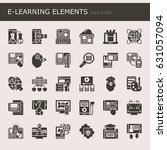e learning elements   thin line ...   Shutterstock .eps vector #631057094