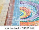 Colorful Mosaic on grond - stock photo
