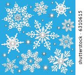vector detailed snowflakes with ... | Shutterstock .eps vector #6310615