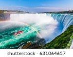 niagara falls hornblower tour... | Shutterstock . vector #631064657