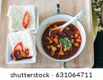rice cracker with sweet chili... | Shutterstock . vector #631064711