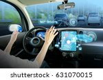 cockpit of autonomous car. self ... | Shutterstock . vector #631070015