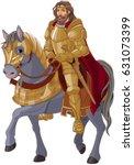 medieval king horseback in full ...   Shutterstock .eps vector #631073399