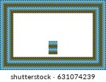 border or frame of abstract... | Shutterstock . vector #631074239