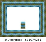border or frame of abstract... | Shutterstock . vector #631074251