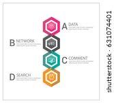 modern infographics options... | Shutterstock .eps vector #631074401