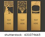 die and laser cut with trees... | Shutterstock .eps vector #631074665