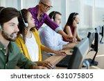 customer service executive... | Shutterstock . vector #631075805