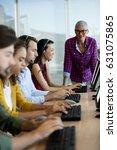 customer service executive... | Shutterstock . vector #631075865
