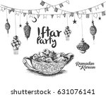 ramadan kareem iftar party... | Shutterstock .eps vector #631076141