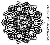 mandalas for coloring book.... | Shutterstock .eps vector #631083785