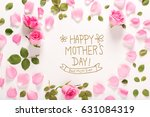 happy mother's day message with ... | Shutterstock . vector #631084319