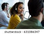 portrait of customer service... | Shutterstock . vector #631086347