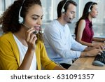customer service executives... | Shutterstock . vector #631091357