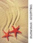 summer background with sea sand ... | Shutterstock . vector #631097861