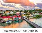 st. john's  antigua port and... | Shutterstock . vector #631098515