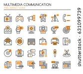 multimedia and communication  ... | Shutterstock .eps vector #631099739