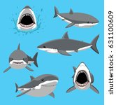 Great White Shark Six Poses...