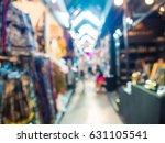 abstract blur tourist shopping... | Shutterstock . vector #631105541