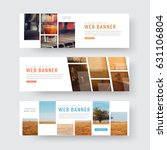 template of web banners with... | Shutterstock .eps vector #631106804