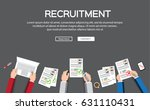 human resource or hr management ... | Shutterstock .eps vector #631110431