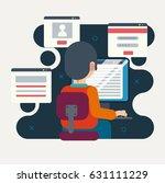 programmer or designer working... | Shutterstock .eps vector #631111229