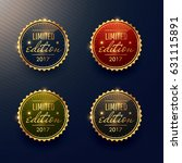 limited edition labels set... | Shutterstock .eps vector #631115891