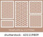 decorative panels set for laser ... | Shutterstock .eps vector #631119809
